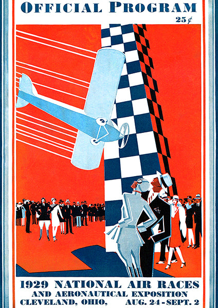 1929 National Air Races - Cleveland - Program Cover Poster