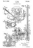 1930 - Carburetor - Henry Ford - Patent Art Poster