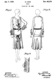1930 - Dress - D. Long - Patent Art Poster