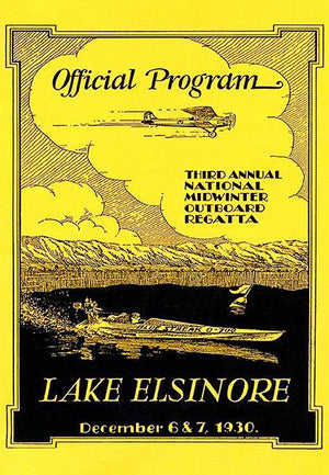 1930 - Midwinter Outboard Regatta Boat Race - Lake Elsinore - Promotional Magnet