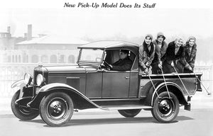 1930 Chevrolet Roadster Pick-Up - Promotional Photo Poster