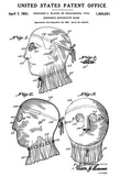 1931 - Surgeon's Protective Mask - L. L. Blanco - Patent Art Poster