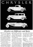1931 Chrysler - Different And Better - Promotional Advertising Poster