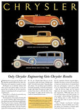 1931 Chrysler Engineering Get Chrysler Results - Promotional Advertising Poster