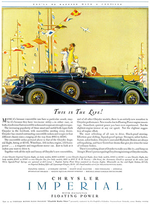 1932 Chrysler Imperial - This Is The Life - Promotional Advertising Poster