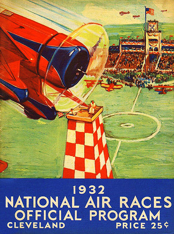1932 Cleveland National Air Races - Program Cover Poster