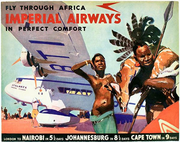 1932 Imperial Airways - Fly Through Africa - Travel Poster