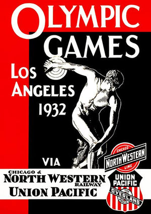 1932 Olympic Games - Los Angeles CA - Promotional Advertising Magnet