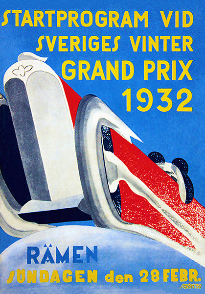 1932 Swedish Winter Grand Prix - Program Cover Poster