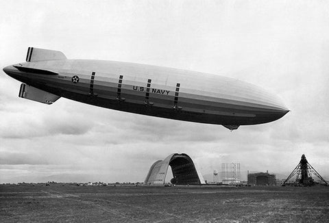 1933 - USS Macon (ZRS-5) - U.S. Navy Zeppelin - Moffett Field California - Photo Poster