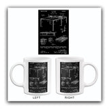 1935 - Tennis Table - Sports - E. D. Kaser - Patent Art Mug