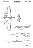 1935 - Boeing Model 299 (YB-17) Bomber Airplane - Patent Art Poster