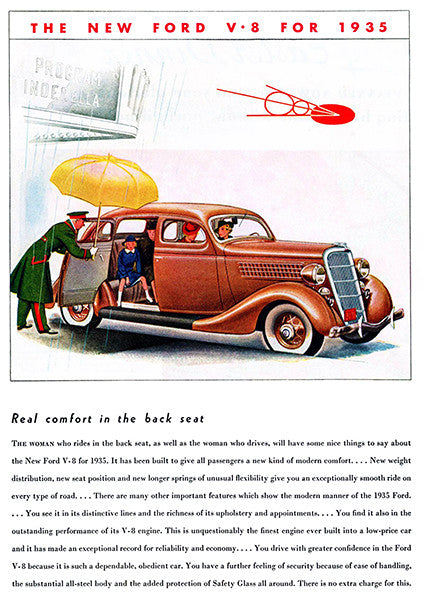 1935 Ford V-8 - Promotional Advertising Poster