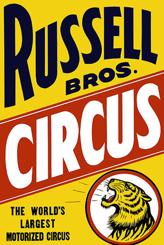 Russell Brothers Circus - 1935 - Circus Show Poster