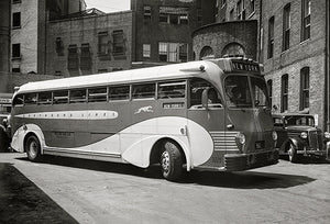 1936 Greyhound Lines Motor Coach - Promotional Photo Magnet
