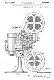 1936 - Movie Projector - T. Lindenberg Jr. - Patent Art Poster
