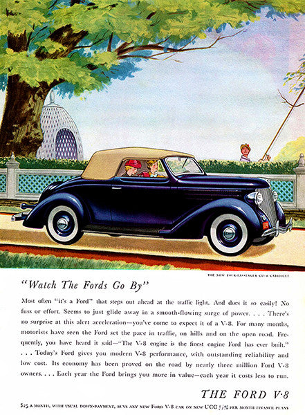 1936 Ford Club Cabriolet - Promotional Advertising Poster