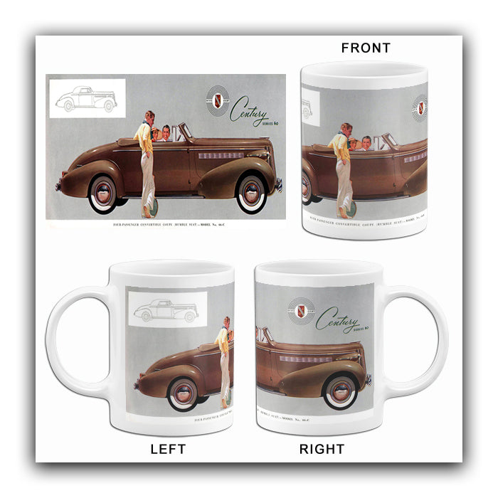 1937 Buick Convertible Coupe - Promotional Advertising Mug