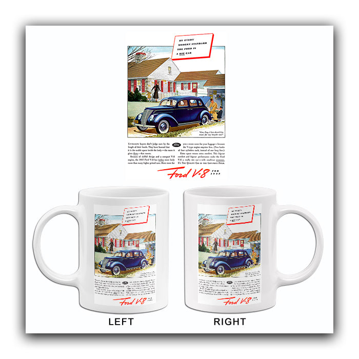 1937 Ford V-8 - The BIG Car - Promotional Advertising Mug