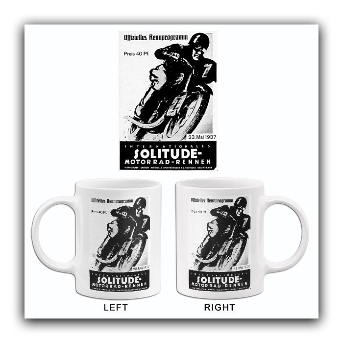 1937 Internationales Solitude Motorcycle Race - Promotional Advertising Mug