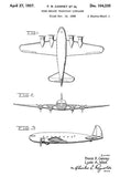 1937 - Boeing Model 307 Stratoliner C-75 - Four Engine Transport Airplane - F. R. Canney - Patent Art Mug