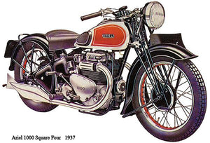 1937 Ariel 1000 Suare Four - Promotional Advertising Magnet