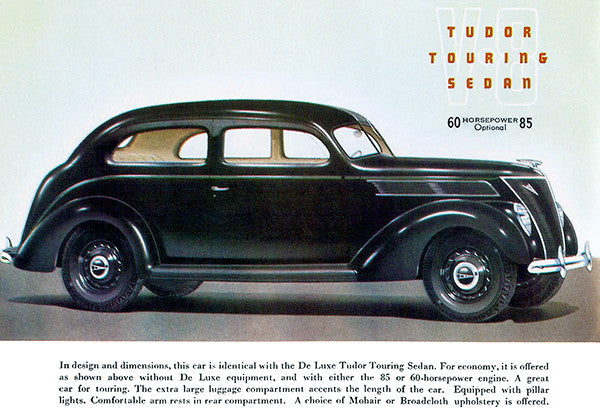 1937 Ford V-8 Tudor Touring Sedan - Promotional Advertising Poster