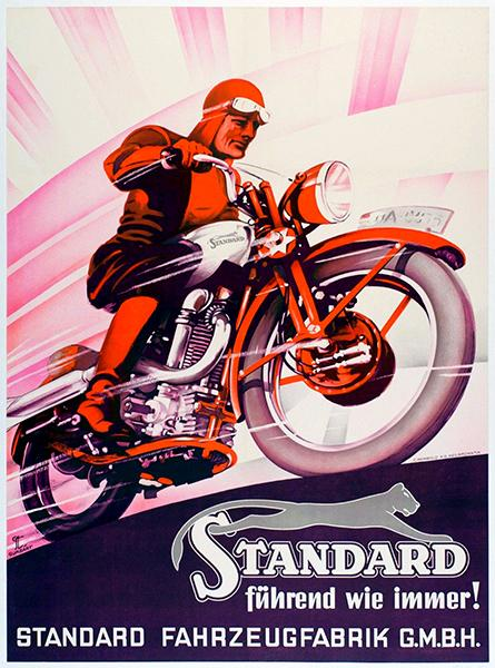 1937 Standard Motorcycles - Germany - Promotional Advertising Mug