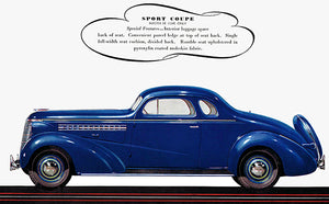 1938 Chevrolet Master De Luxe Sport Coupe - Promotional Advertising Poster