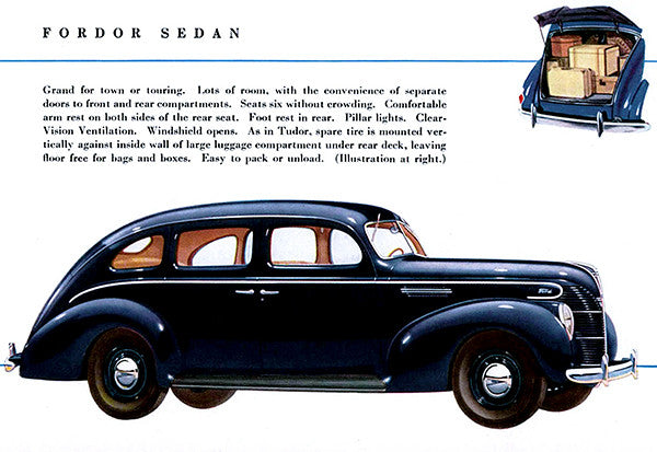 1939 Ford Fodor Sedan - Promotional Advertising Poster
