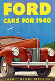 1940 Ford - The Quality Car In The Low Price Field - Promotional Advertising Mug