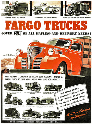 1941 Fargo Trucks - Promotional Advertising Magnet