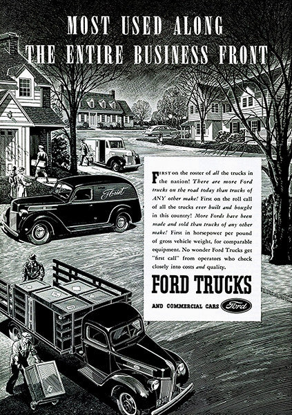 1941 Ford Trucks - Promotional Advertising Poster