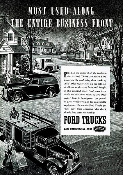 1941 Ford Trucks - Promotional Advertising Mug