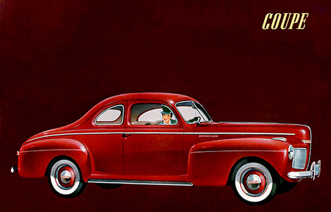 1941 Mercury Coupe - Promotional Advertising Poster