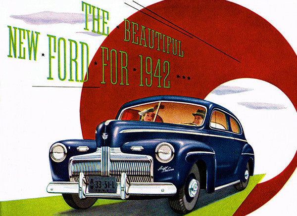 1942 Ford - Promotional Advertising Poster