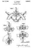 1944 - Steering Wheel - A. J. Higgins - Patent Art Poster