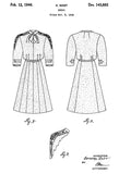 1946 - Dress - K. Rost - Patent Art Poster