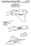 1947 - Submersible Aircraft - A. Arruda - Patent Art Poster