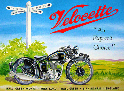 1947 Velocette KSS 350 - Promotional Advertising Poster
