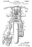 1948 - Front and Rear Wheel Driven Motor Vehicles - Indian - Patent Art Poster