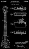 1948 - Pickup Unit For Fender Guitar - C. L. Fender - Patent Art Poster
