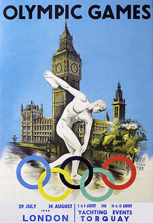 1948 Olympic Games - London - Promotional Advertising Poster
