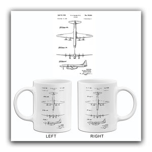 1949 - Lockheed Airplane #2 - W. A. Pulver - Patent Art Mug