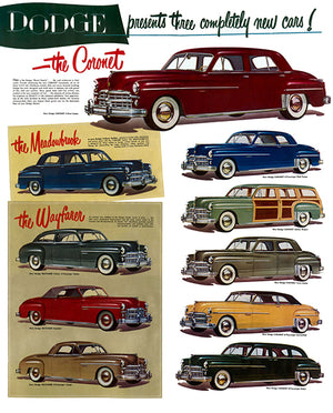 1949 Dodge Line - UK - Promotional Advertising Poster