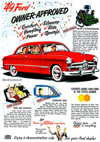 1949 Ford - Owner Approved - Promotional Advertising Poster