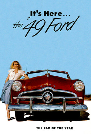 1949 Ford - The Car Of The Year - Promotional Advertising Poster