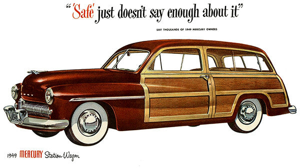 1949 Mercury Station Wagon - Promotional Advertising Poster