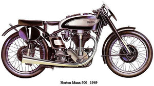 1949 Norton Manx 500 - Promotional Advertising Magnet