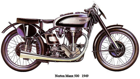 1949 Norton Manx 500 - Promotional Advertising Poster